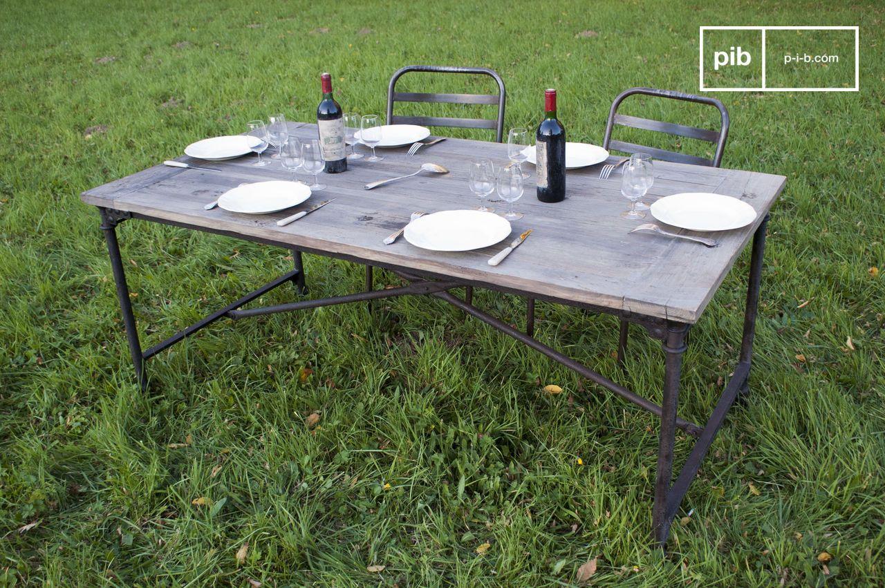Table style industriel - meuble industriel | PIB