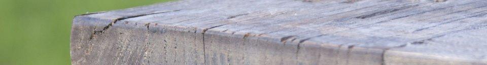 Mise en avant matière Table de tapissier en orme ancien