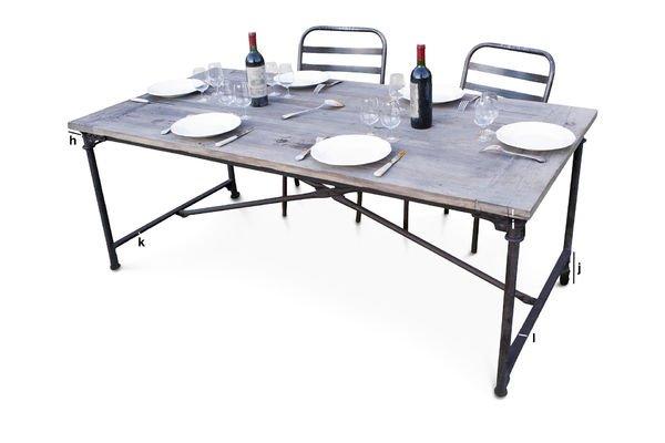 Dimensions du produit Table de tapissier en orme ancien