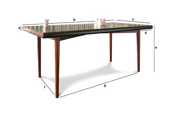 Dimensions du produit Table design Nordby