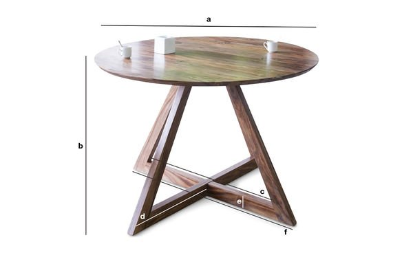 Dimensions du produit Table design ronde Starbase