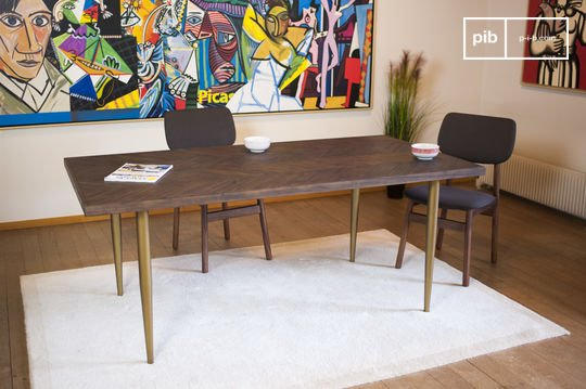 Table en bois massif alienor