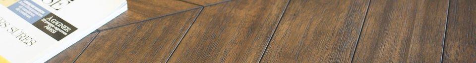 Mise en avant matière Table en bois Alienor