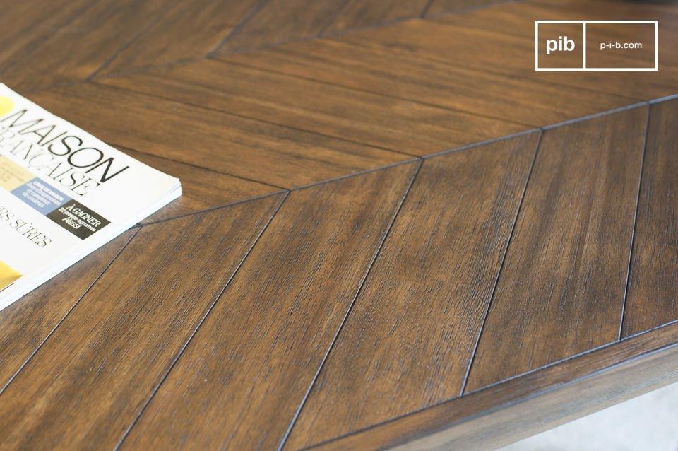 Le bois d\'acacia possède une finition très mate qui participe à l\'esprit intemporel de la table