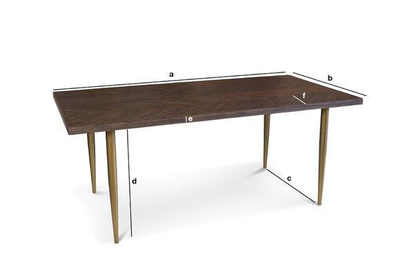 Dimensions du produit Table en bois Alienor