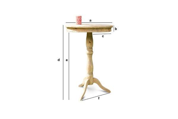 Dimensions du produit Table en bois ancien Adèle
