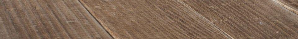 Mise en avant matière Table en bois Elise
