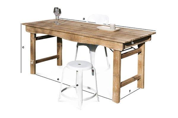 Dimensions du produit Table en bois Elise