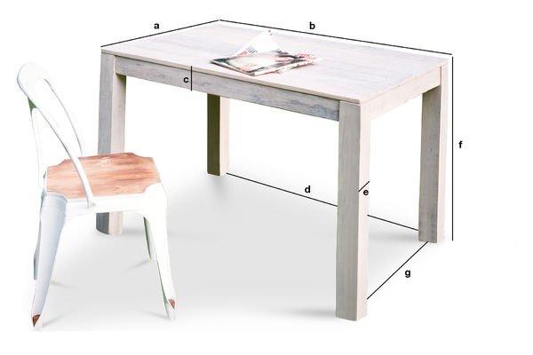 Dimensions du produit Table en bois Epicure