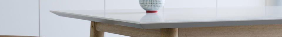 Mise en avant matière Table en bois Fjord
