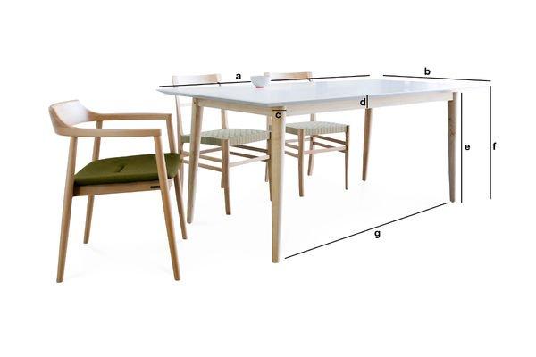 Dimensions du produit Table en bois Fjord