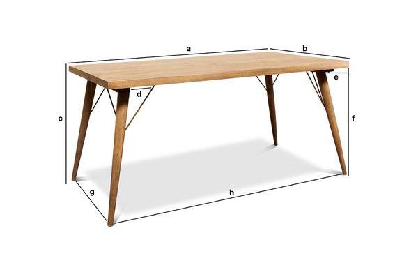 Dimensions du produit Table en bois Jotün