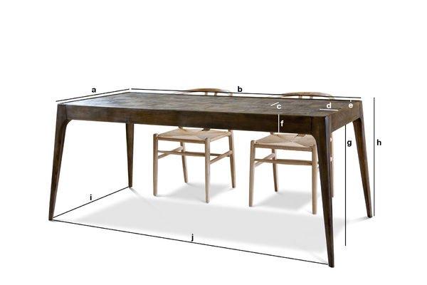 Dimensions du produit Table en bois Tabüto