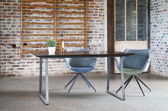 Table en bois verni Espazio