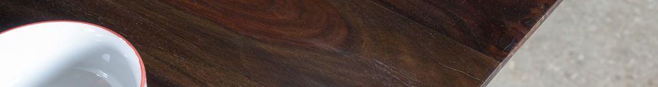 Mise en avant matière Table en bois verni Espazio