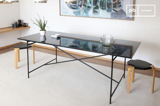 Table en marbre noir Thorning