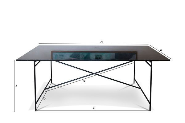 Dimensions du produit Table en marbre noir Thorning