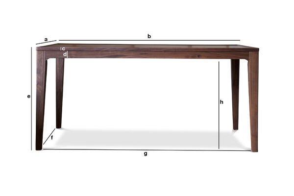 Dimensions du produit Table en noyer Hemët