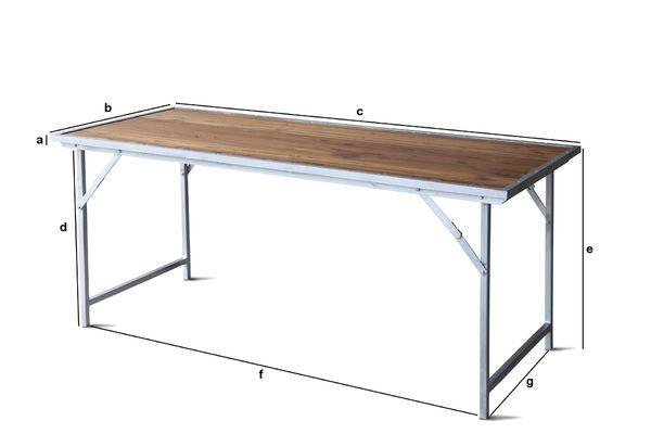 Dimensions du produit Table en teck Bollène