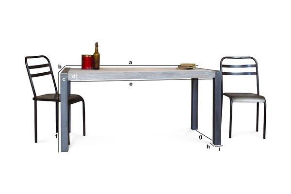 Dimensions du produit Table en teck recyclé