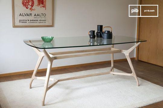 Table nordique en verre rectangulaire nixon