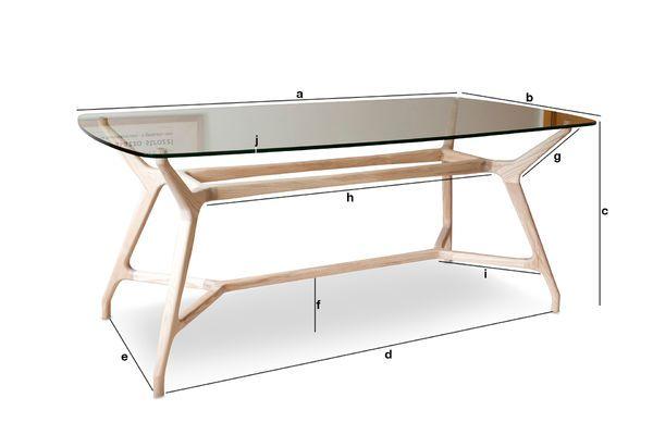 Dimensions du produit Table en verre rectangulaire Nixon