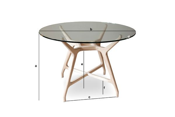 Dimensions du produit Table en verre ronde Nixon