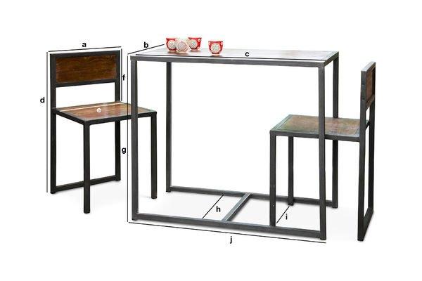 Dimensions du produit Table et chaises Finn
