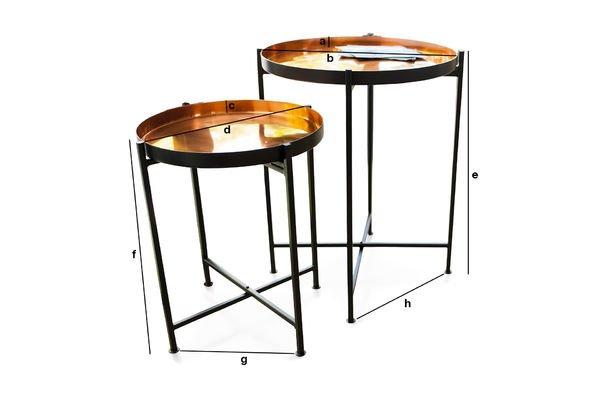 Dimensions du produit Table gigogne Lloyd