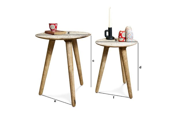 Dimensions du produit Table gigogne Minelle