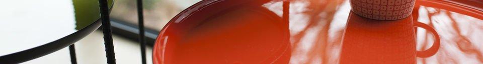 Mise en avant matière Table gigogne tricolore Kirk