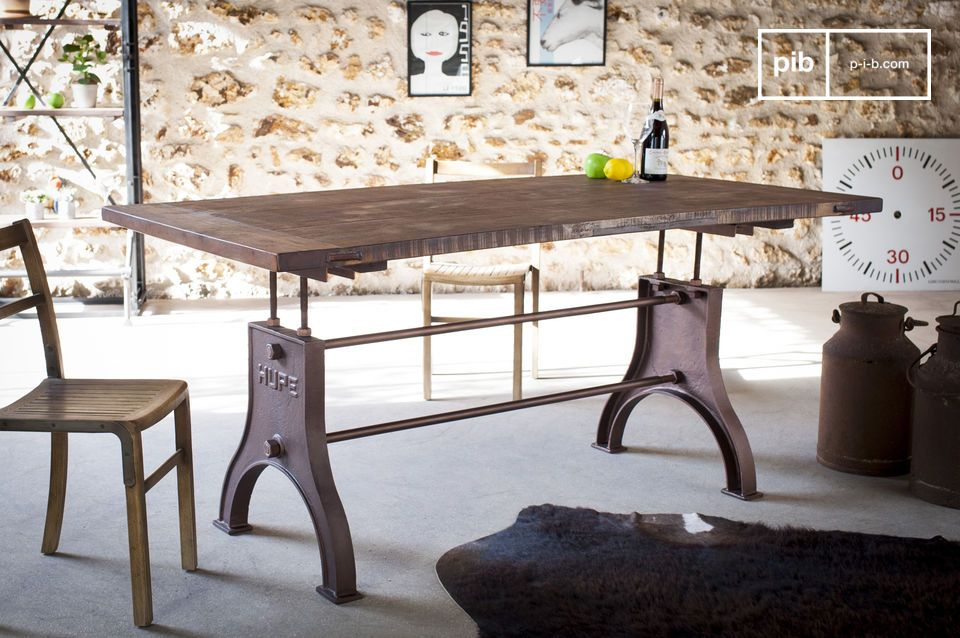 Table industrielle ajustable Silver Lake