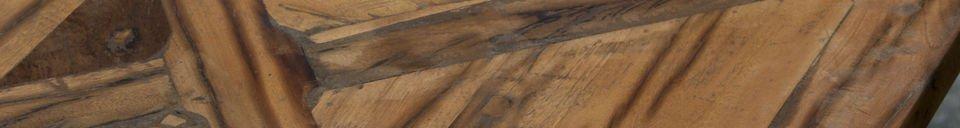Mise en avant matière Table industrielle Cadé 180 cm