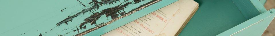 Mise en avant matière Table Lila turquoise