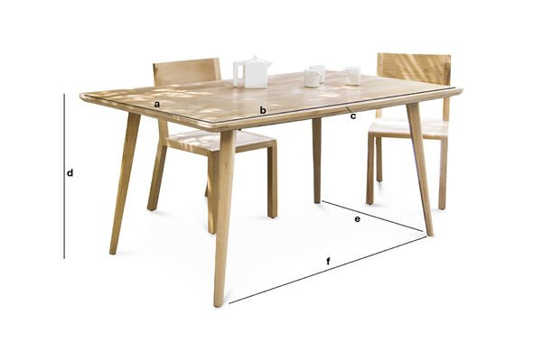 Dimensions du produit Table Möka 160 cm