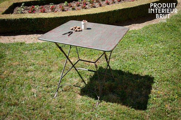 Table pliante style vintage