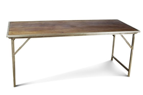 Table bois m tal pliante tr my mobilier design industriel pib - Table manger pliante ...