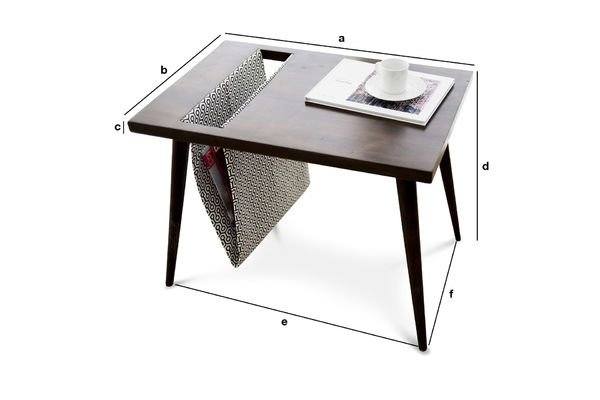 Dimensions du produit Table porte-revue Londress