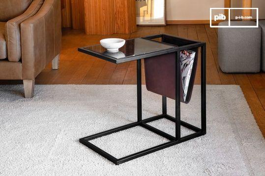 Table porte-revues en marbre Noora