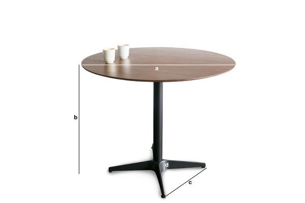 Table ronde daire esprit scandinave des 60 39 s pour 4 pib - Dimension table ronde ...