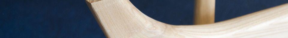 Mise en avant matière Table ronde en verre Parkano