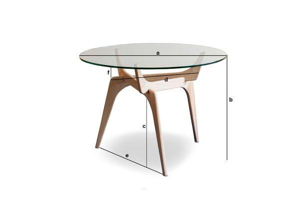 Dimensions du produit Table ronde en verre Parkano