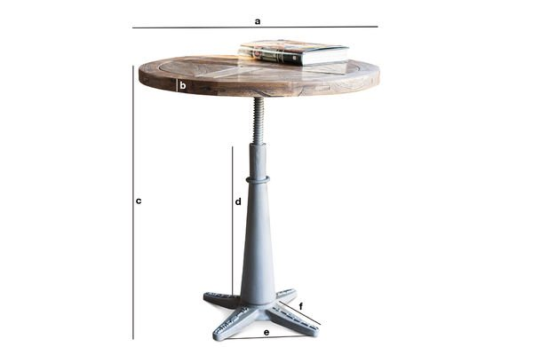 Dimensions du produit Table ronde Merritt