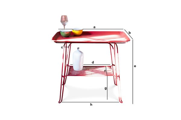 Dimensions du produit Table Scarlet