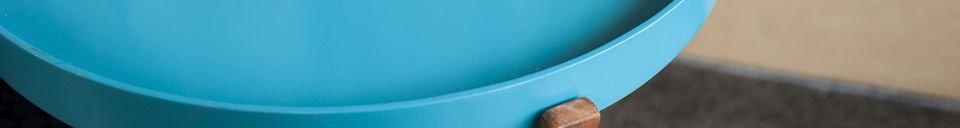 Mise en avant matière Table Stockholm turquoise