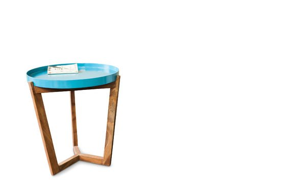 Table Stockholm turquoise Détouré