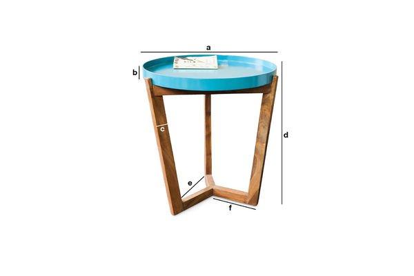 Dimensions du produit Table Stockholm turquoise