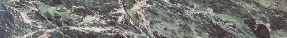 Mise en avant matière Table tripode en marbre vert Maybury