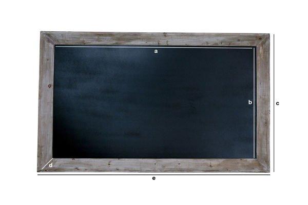Dimensions du produit Tableau noir de brasserie 115x190cm