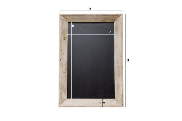 Dimensions du produit Tableau noir de brasserie petit format